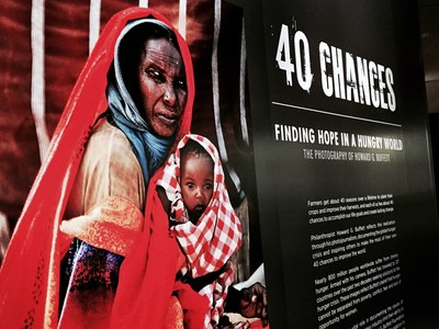 "On Sept. 18, the Newseum unveiled its new exhibit ""40 Chances: Finding Hope in a Hungry World - The Photography of Howard G. Buffett,"" featuring 40 of Buffett's photos documenting the world hunger crisis as part of a global awareness campaign. The exhibit will be on display through Jan. 3, 2016."