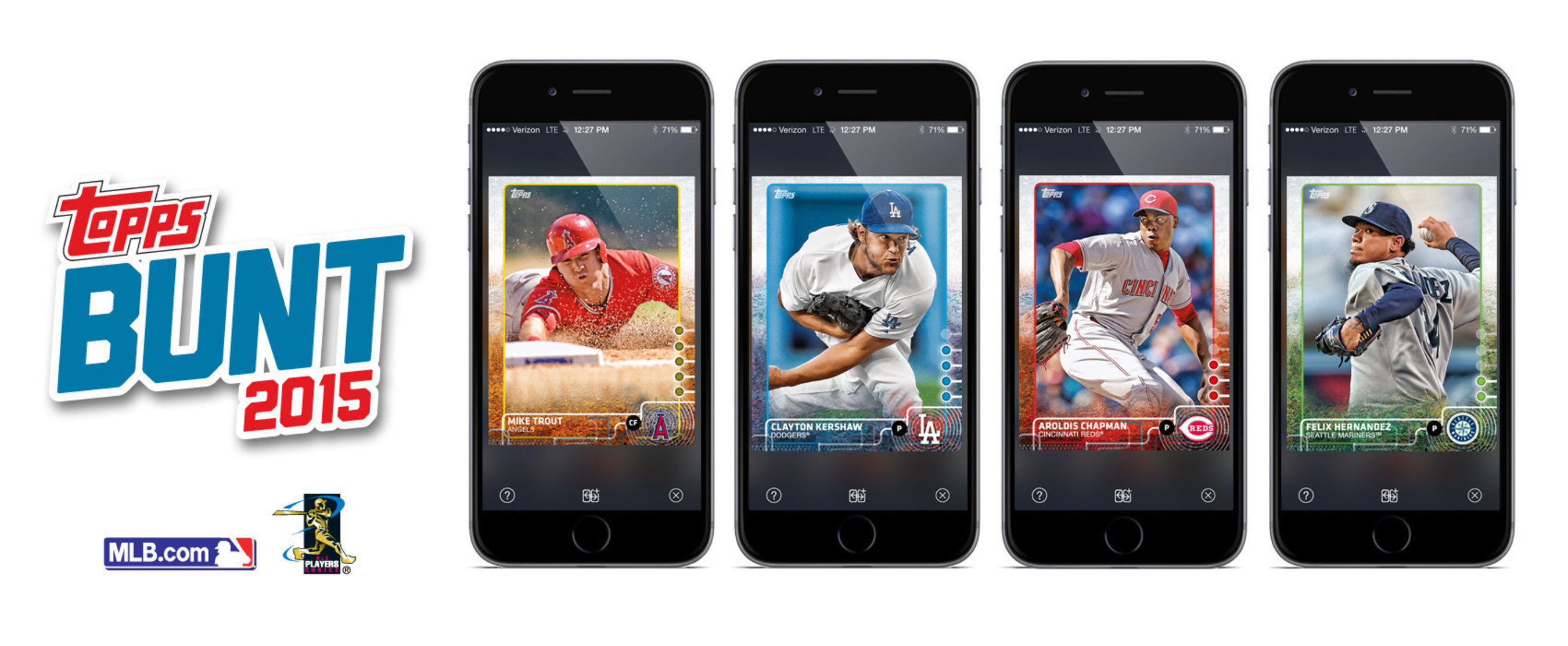 Image shows Topps BUNT 2015 base cards.