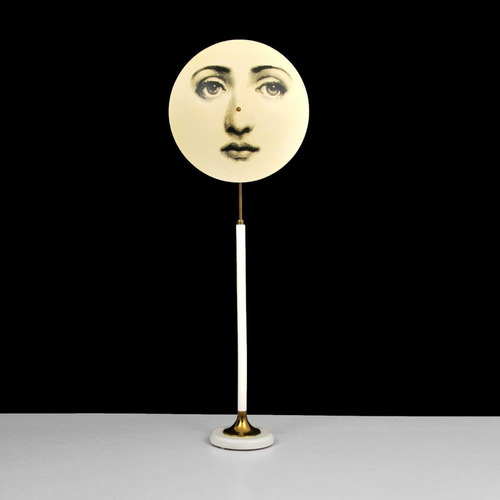 Piero Fornasetti (Italian, 1913-1988), lollipop-form graphic floor lamp with face of Italian opera singer Lina Cavalieri, 75in tall. Auction estimate: $10,000-$15,000. Palm Beach Modern Auctions image. (PRNewsFoto/Palm Beach Modern Auctions) (PRNewsFoto/PALM BEACH MODERN AUCTIONS)
