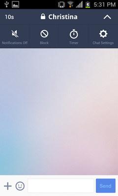 "Sender: Select ""Timer"" (PRNewsFoto/LINE Corporation)"