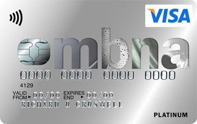 The new Platinum credit card from MBNA