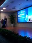 Mr. Lu Haikuan, Chairman & CEO of Deer Jet Medical gave speeches at the signing ceremony. (PRNewsFoto/Deer Jet Medical Co. Ltd.)