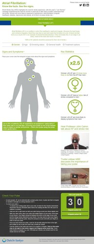 To learn more about atrial fibrillation as a risk factor for stroke click here:  http://af-vte.thisinfographic.com/wsd (PRNewsFoto/Daiichi Sankyo Company, Limited) (PRNewsFoto/Daiichi Sankyo Company, Limited)