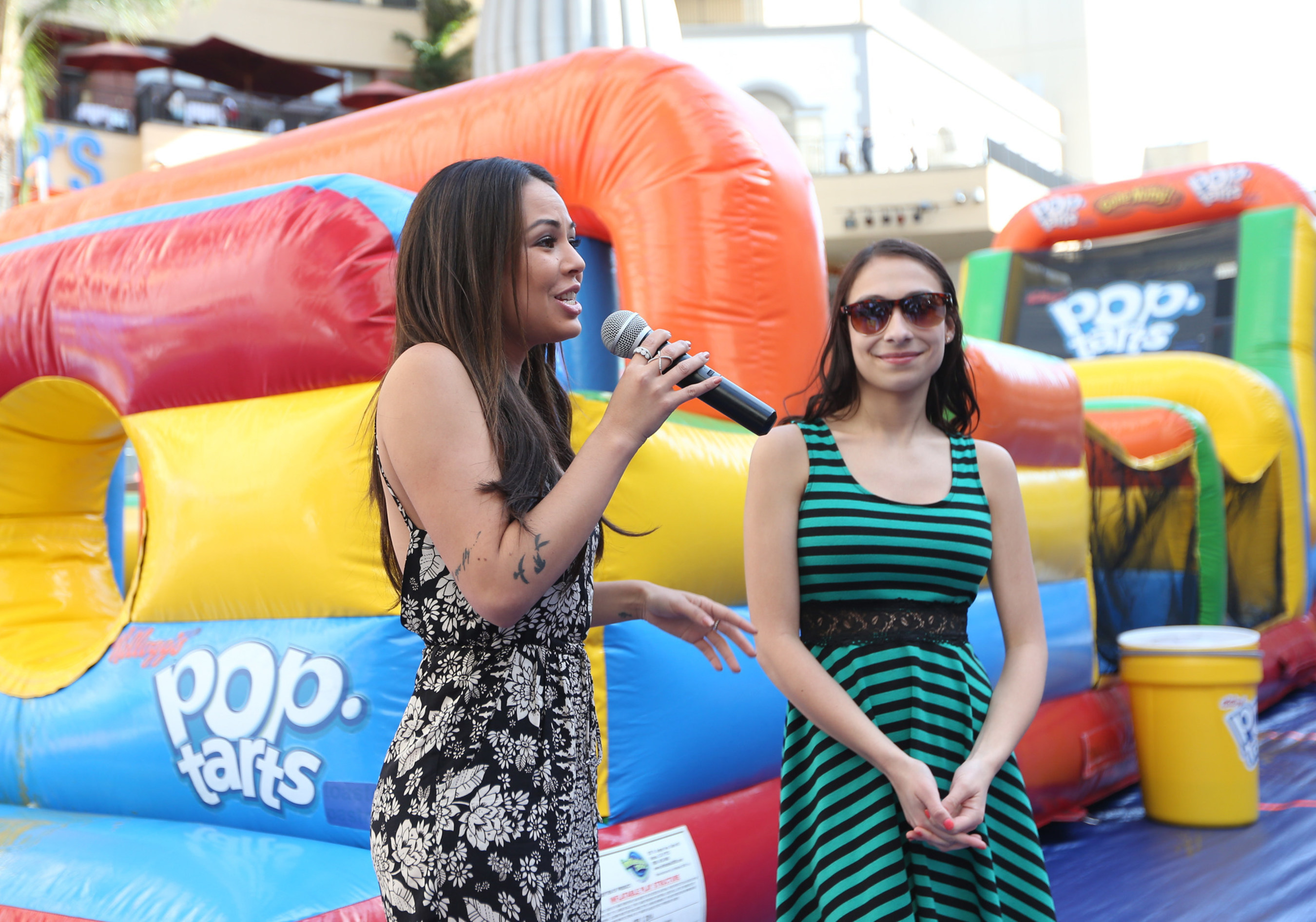 Pretty Little Liars actress Janel Parrish and 16-year old Gabrielle Johnson at the Pop-Tarts(R) PB&J Day celebration