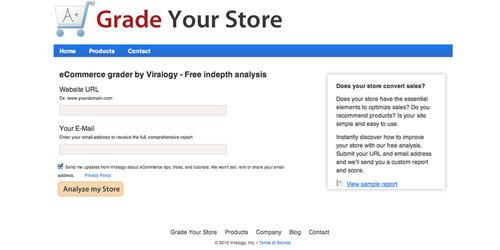 Viralogy Unveils the Internet's First Ecommerce Grader