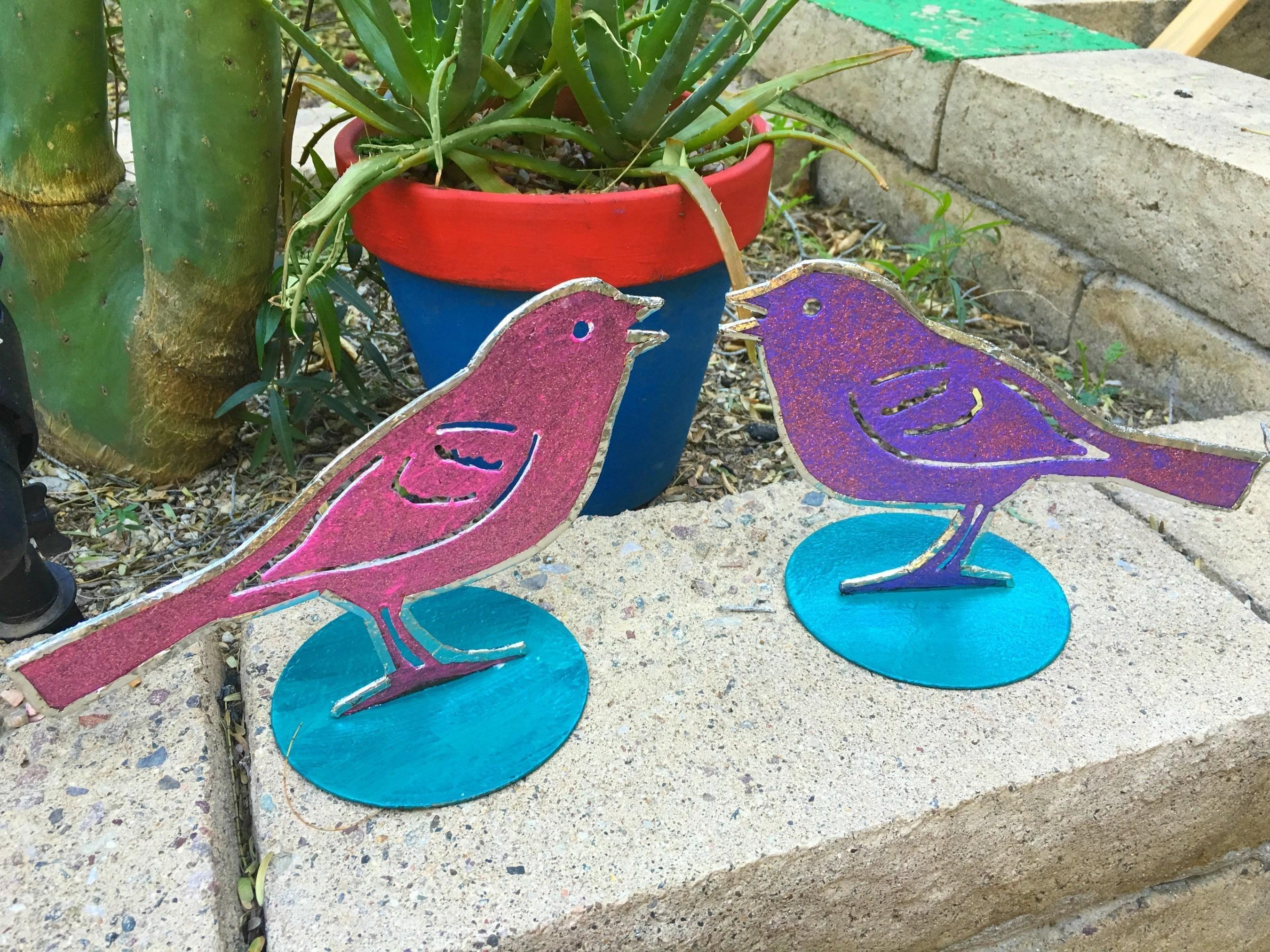 Crafty Chica's stunning soldered birds. (Crafty Chica)