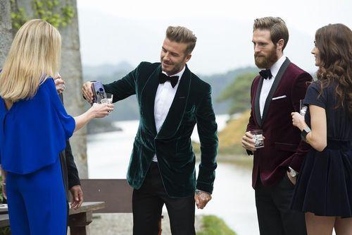 David Beckham shares HAIG CLUB on set during filming of the HAIG CLUB advert directed by Guy Ritchie (PRNewsFoto/HAIG Club and Diageo)
