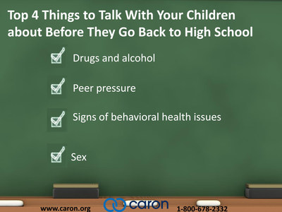 Back-to-School Checklist by Caron Treatment Centers