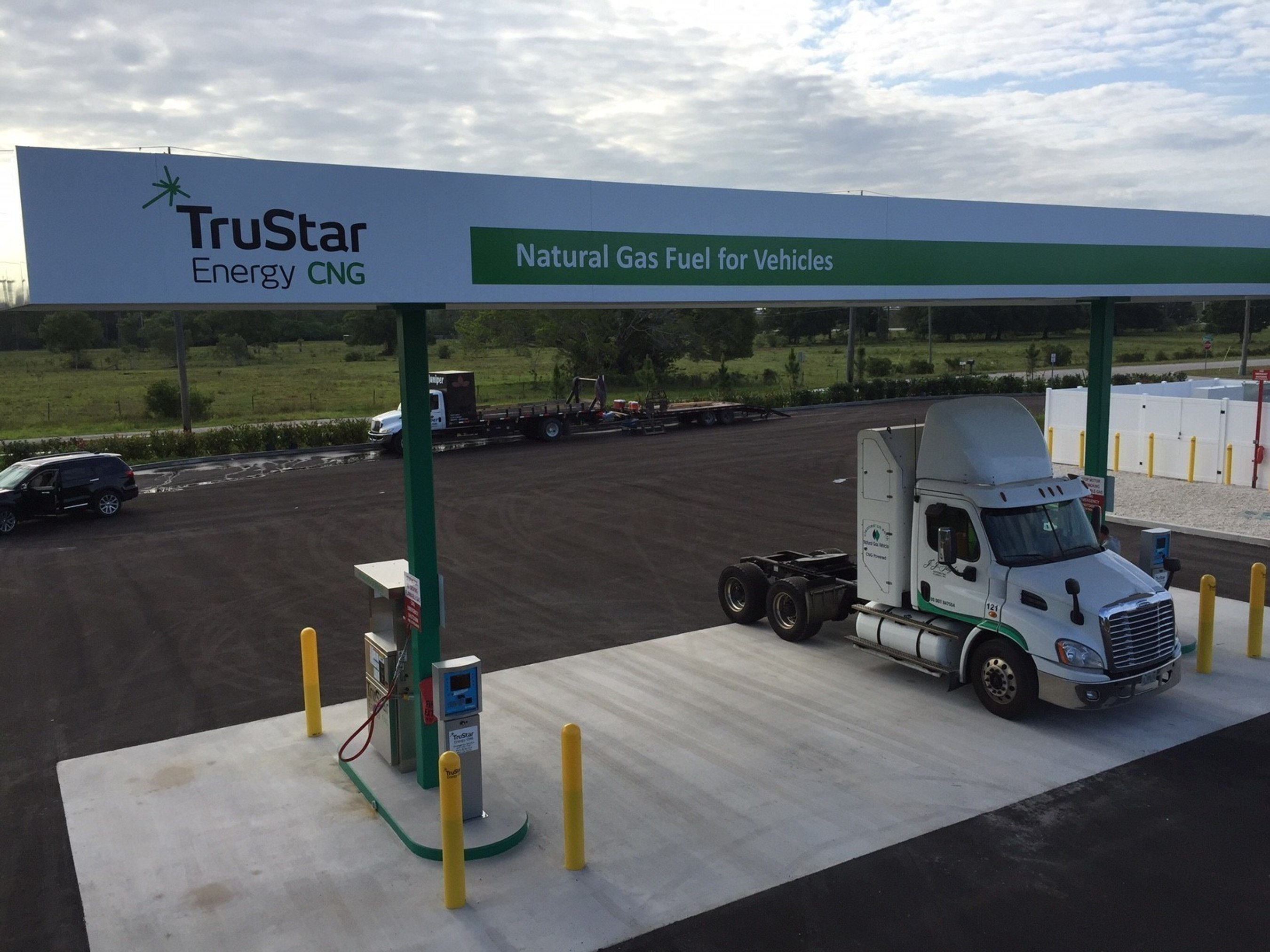 TruStar Energy-owned public CNG fueling station at 5345 Dividend Drive, Fort Myers, Florida.