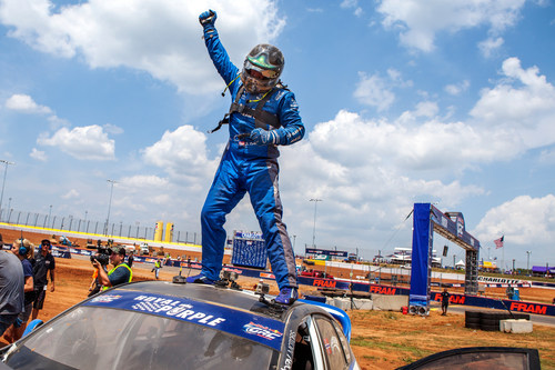 Subaru Rally Team USA driver Sverre Isachsen claimed a hard-fought 2nd place at Red Bull GRC in Charlotte. (PRNewsFoto/Subaru of America, Inc.)