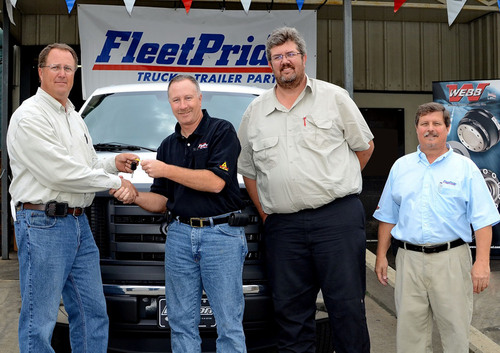 FleetPride Presents Ford F-150 to National Sweepstakes Winners