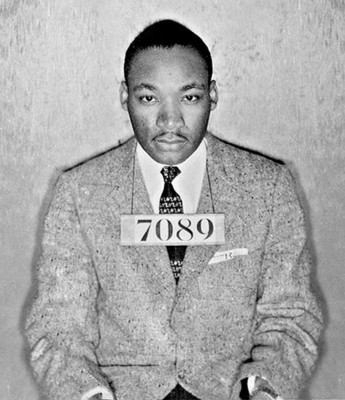 "Eastern State Penitentiary commemorates Dr. Martin Luther King, Jr. with special readings of ""Letter from Birmingham Jail."" Photo: Dr. Martin Luther King Jr.'s mugshot from his arrest during the Montgomery bus boycott. Montgomery County Sheriff's Department, Alabama, 1956. (PRNewsFoto/Eastern State Penitentiary)"