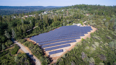 City of Grass Valley solar PV at the Slate Creek Pump Station.