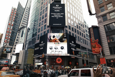 Ad featuring Gowild debuts on the large billboard overlooking New York's Times Square