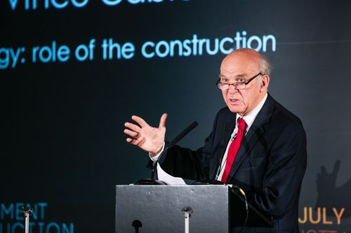 Vince Cable at the Government Construction Summit. (PRNewsFoto/Government Construction Summit)