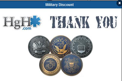 HGH Military Discount Image.  (PRNewsFoto/HGH.com)