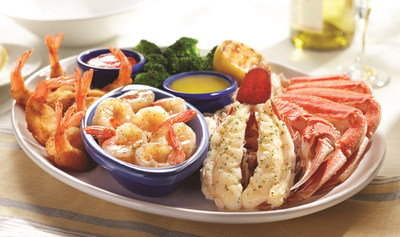 Red Lobster's Ultimate Feast(R) now features handcrafted shrimp scampi with bigger shrimp.