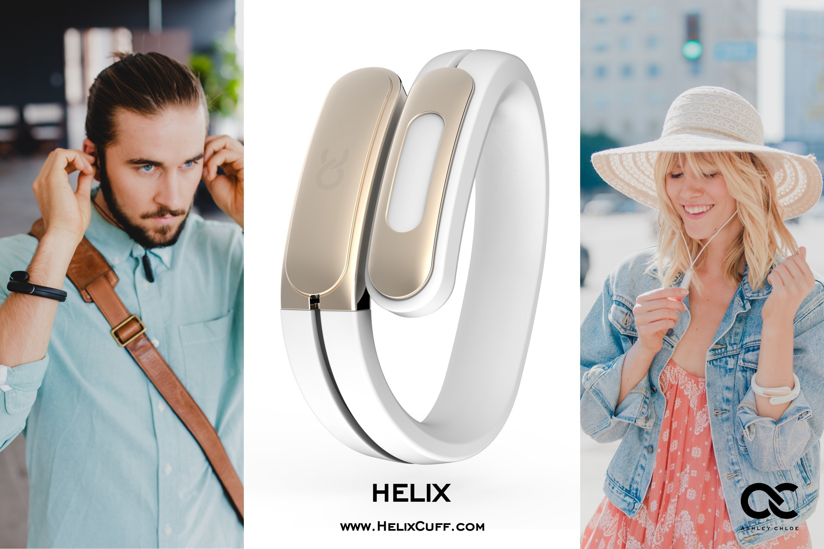 Ashley Chloe has launched a Kickstarter campaign for the Helix Cuff, a digital wearable accessory that unites fashion with function. Helix harnesses Bluetooth wireless technology to pair tiny in-ear headphones cleverly hidden in a stylish cuff with your favorite iOS and Android mobile, wearable and smart devices. Helix is offered in white, black and bright red with embellishments in 18K gold, champagne gold or silver aluminum. Helix offers stereo-sound quality, a built-in microphone, and track/call...