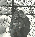 Sean Hepburn Ferrer with mother, Audrey Hepburn