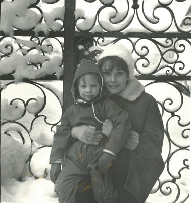 Sean Hepburn Ferrer with mother, Audrey Hepburn