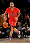Tony Parker shows up in NBA All-Star Game, New Orleans.  (PRNewsFoto/Peak Sport Products Co., Limited)