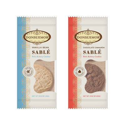 "Making its debut at the Winter Fancy Food Show January 17, 2016, the Sable (pronounced Sah-blay) is perfection in its most simple form.  A delicate round ""sandy"" cookie that is crunchy and crumbly in texture yet buttery and rich with flavor produced from wholesome ingredients.  Donsuemor Sables come in two luscious flavors, classic Vanilla Bean and Chocolate Cinnamon.  More at Donsuemor.com"