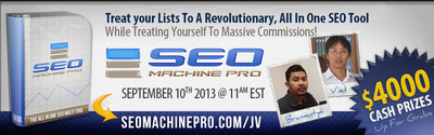 One of the Best SEO Software Products, SEO Machine PRO, is Set to Launch on September 10, 2013.  (PRNewsFoto/SEO Machine Pro)