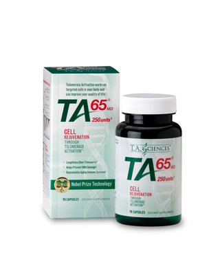 TA-65(R) is a patented, all natural, plant-based compound which can help maintain or rebuild telomeres, that diminish as people get older. (PRNewsFoto/T.A. Sciences)