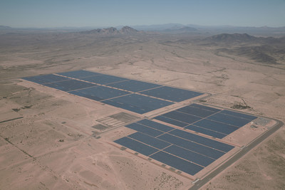 An aerial view of the jointly-owned first phase of Sempra U.S. Gas & Power's Mesquite Solar complex in Arizona.