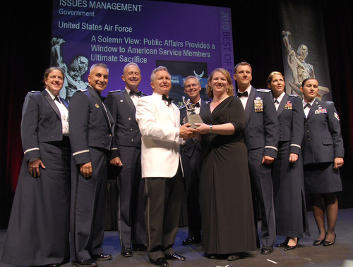 U.S. Air Force Receives Public Relations Industry's Top Honor for Balancing Honor, Compassion and