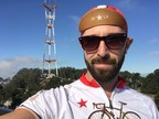Scott Friesen's healthy selfie on a bike ride to Sutro Tower in San Francisco. Submit your own healthy selfie to seeyourself@sfaf.org for a chance to be part of a new advertising campaign for San Francisco AIDS Foundation's groundbreaking new health and wellness center opening in the spring of 2015.