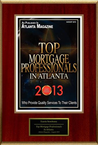 "Travis Newberry Selected For ""Top Mortgage Professionals In Atlanta"". (PRNewsFoto/American Registry) ..."