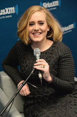 Adele Talks 25 on SiriusXM  (Photo by Kevin Mazur/Getty Images for SiriusXM)