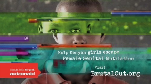 ActionAid's #BrutalCut campaign urges the public to help girls in Kenya escape FGM this summer. (PRNewsFoto/ActionAid)