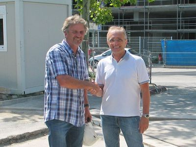 Mr. Fromaget (left) and Mr Giulio Barbieri (right)