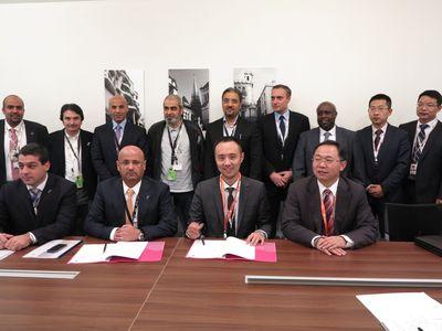 Zain and Huawei signing ceremony (PRNewsFoto/Zain Kuwait and Huawei)