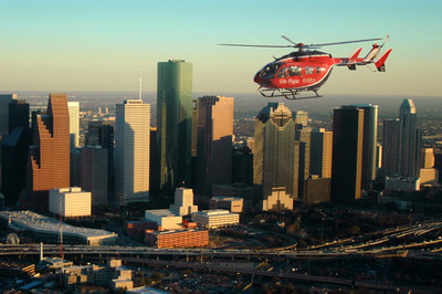 Memorial Hermann Life Flight(R) serves the community within a 150-mile radius of the Texas Medical Center and plays a critical role in Memorial Hermann's integrated trauma network.