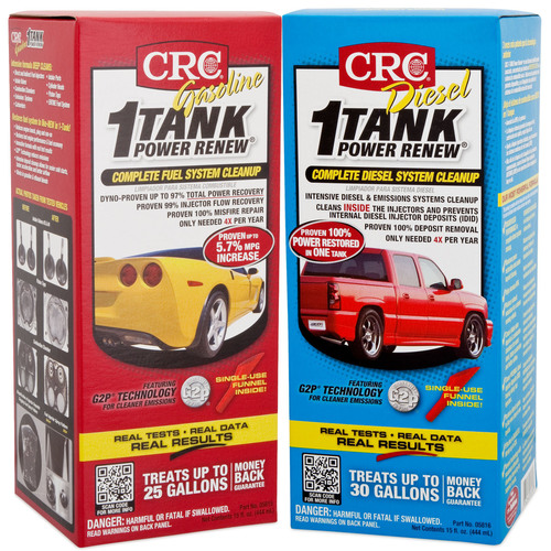 CRC 1-TANK Power Renew® Sets a New Standard in Complete Fuel System Cleaning