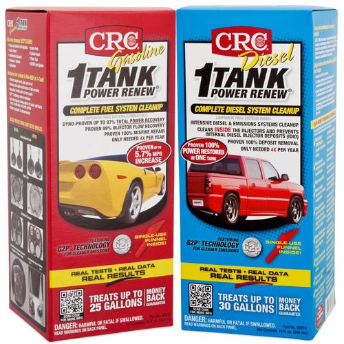 CRC 1-TANK Power Renew® fija una nueva pauta en limpieza completa del sistema de combustible