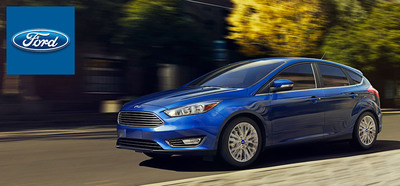 The revamped styling and new EcoBoost engine available in the 2015 Ford Focus enhance the compact car's overall package for the new model year. (PRNewsFoto/Wiscasset Ford)