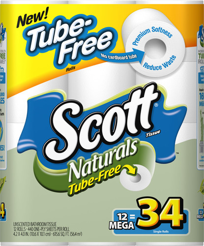 Kimberly-Clark Introduces Scott Naturals Tube-Free - the First Coreless Bath Tissue for the Home