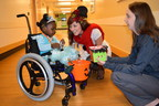 Children with disabilities go trick-or-treating at Cincinnati Children's Hospital Medical Center.