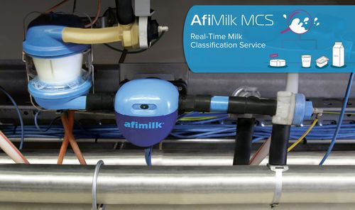 AfiMilk MCS: Real-time milk classification at the farm - milking stall setup (PRNewsFoto/Afimilk)