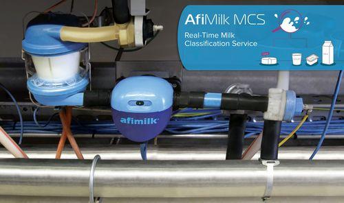 AfiMilk MCS: Real-time milk classification at the farm - milking stall setup (PRNewsFoto/Afimilk)