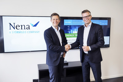 Jostein Malan, VP Renewable Energy at StormGeo and Christian Sjodin, CEO of Nena