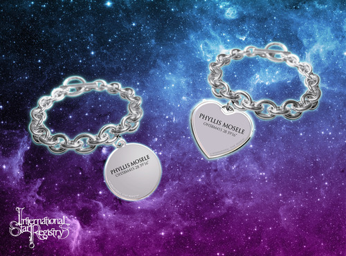 Star Registry personalized sterling silver bracelet www.starregistry.com. (PRNewsFoto/International Star ...