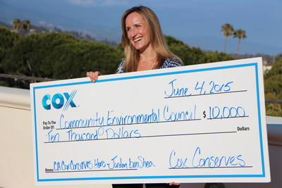 Jordan benShea named California's 2015 Cox Conserves Hero