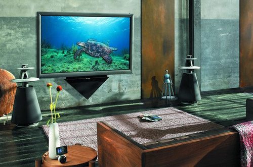bang olufsen unveils first 3d tv in north america. Black Bedroom Furniture Sets. Home Design Ideas