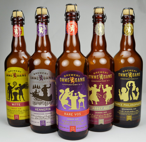 Ommegang Brewery Newly Redesigned Line of Beers on AR Metallizing's metallized paper.  (PRNewsFoto/AR Metallizing)