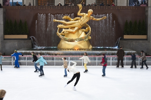 The Ice Rink at Rockfeller Center Opens on Columbus Day Weekend.  (PRNewsFoto/Patina Restaurant Group)